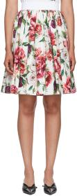 Dolce & Gabbana Multicolor Floral Peonies Miniskir