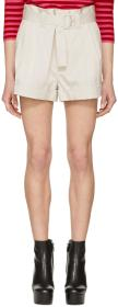 Marc Jacobs Off-White High-Rise Pleated Shorts