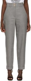 Balmain Grey High-Waisted Trousers