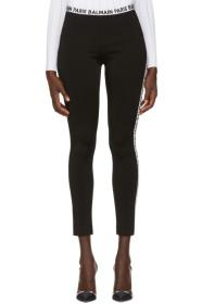 Balmain Black Simple Leggings