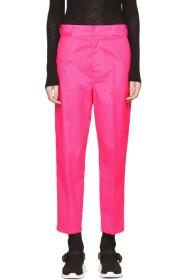 Prada Pink Techno Logo Trousers