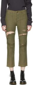 R13 Green Bowie Utility Trousers
