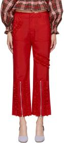 Molly Goddard Red Nancy Trousers
