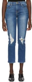 Frame Blue 'Le High Straight' Jeans