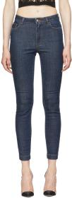 Dolce & Gabbana Blue 'Queen' Skinny Jeans