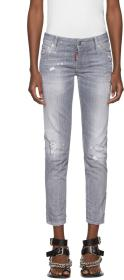 Dsquared2 Grey Skinny Crop Jeans