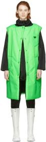 Prada Green Logo Long Padded Vest