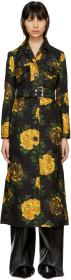 Kwaidan Editions Multicolor Floral Print Trench Co