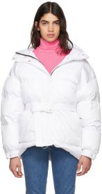 Ienki Ienki White Michlin Belted Down Puffer Jacke