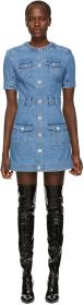 Balmain Blue Denim Dress