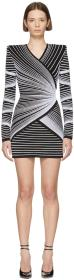 Balmain Black & White Optic Illusion Dress