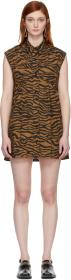 Ashley Williams Brown & Black Tiger Ray Dress