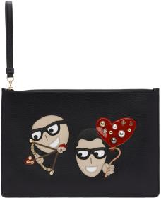Dolce & Gabbana Black Cupid #DGFamily Pouch