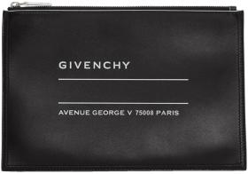 Givenchy Black Iconic Logo Pouch