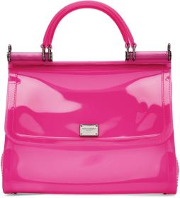 Dolce & Gabbana Pink Small Rubber Miss Sicily Bag