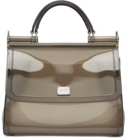 Dolce & Gabbana Grey Small Rubber Miss Sicily Bag