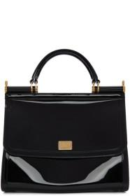 Dolce & Gabbana Black Small Rubber Miss Sicily Bag