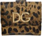 Dolce & Gabbana Black & Brown Leopard French Walle