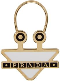 Prada White Triangle Monster Keychain