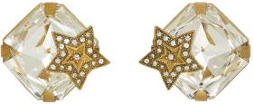Dolce & Gabbana Gold Square Crystal Earrings