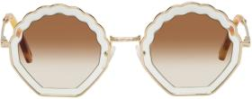 Chloé Gold Tally Sunglasses