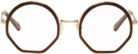 Chloé Gold & Brown Tilda Glasses