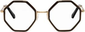 Chloé Gold & Black Hexagon Glasses