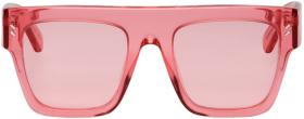 Stella McCartney Pink Oversized Flat Top Sunglasse
