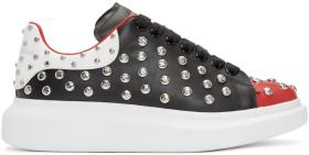 Alexander McQueen Black & Red Studded Oversized Sn