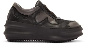 D.Gnak by Kang.D Grey & Black Curved Sneakers
