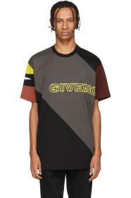 Givenchy Black Sporty Printed Oversized T-Shirt