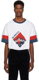 Burberry White Archive Logo Roeford T-Shirt