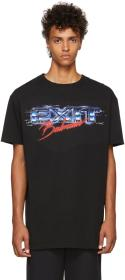Balmain Black Oversized 'Exit' T-Shirt