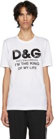 Dolce & Gabbana White 'King Of My Life' T-Shirt