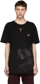 Alexander McQueen Black Skull Mix Media T-Shirt