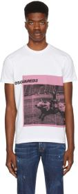 Dsquared2 White Dyed Print T-Shirt