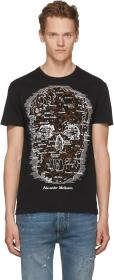 Alexander McQueen Black Map Skull T-Shirt