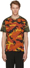 Valentino Orange & Green Camo T-Shirt