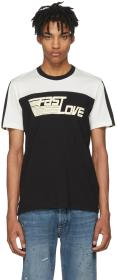 Givenchy Black & White 'Fast Love' Jersey T-Shirt