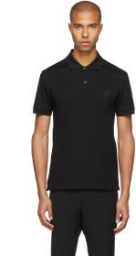 Alexander McQueen Black Skull Badge Polo