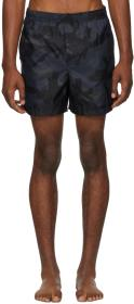 Valentino Navy Camo Swim Shorts