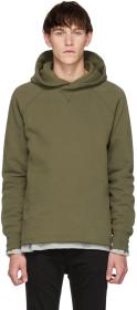 Levi's Made & Crafted Green Unhemmed Hoodie