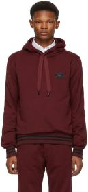 Dolce & Gabbana Red Classic Plaque Hoodie