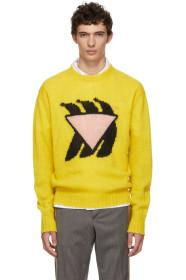 Prada Yellow & Pink Bananas Crewneck
