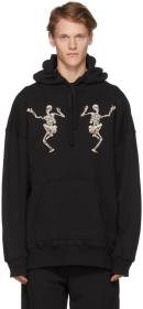 Alexander McQueen Black Embroidered Dancing Skelet