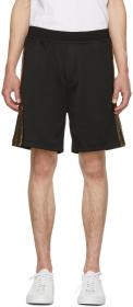 Dsquared2 Black & Gold Jersey Shorts