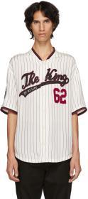 Dolce & Gabbana White & Red 'The King' Jersey Shir