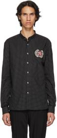 Balmain Black Polka Dot Badge Shirt