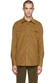 Prada Tan Cammello Two Pocket Shirt