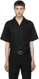 Prada Black Short Sleeve Poplin Shirt
